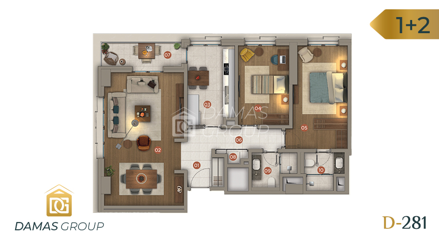 Damas Project D-281 in Istanbul - Floor Plan 02