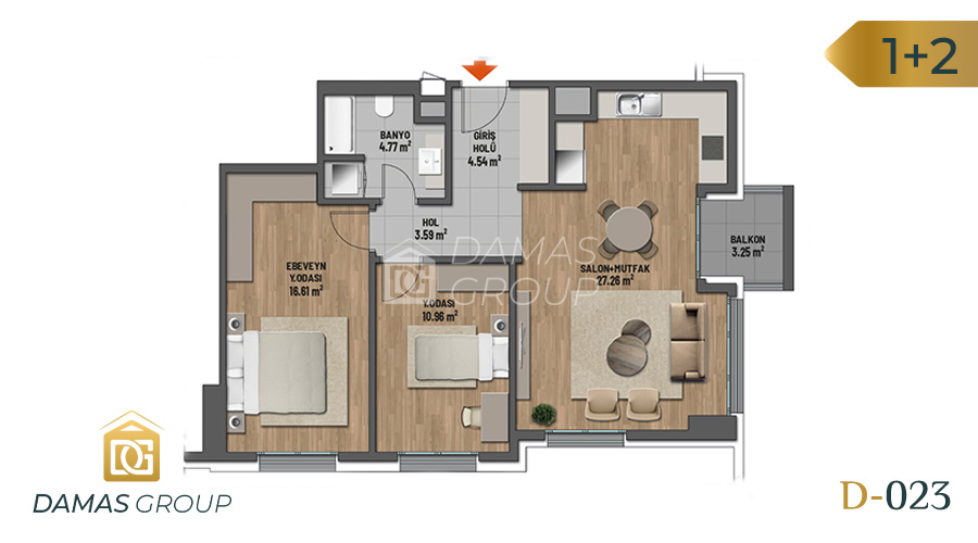 Damas Project D-023 in Istanbul - Floor Plan 02