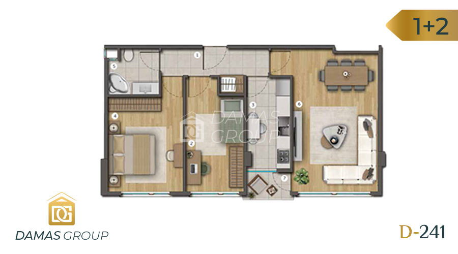 Damas Project D-241 in Istanbul - Floor Plan 02