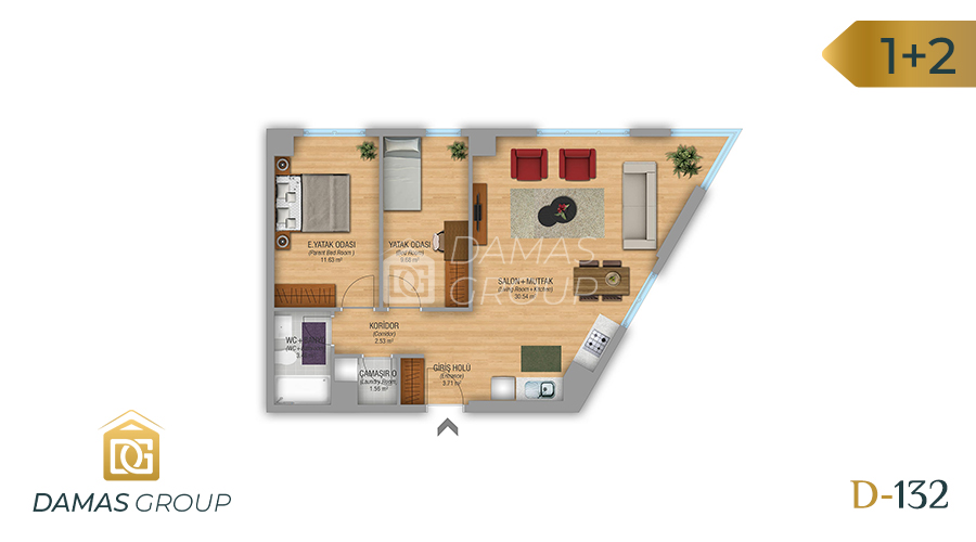 Damas Project D-132 in Istanbul - Floor Plan 03