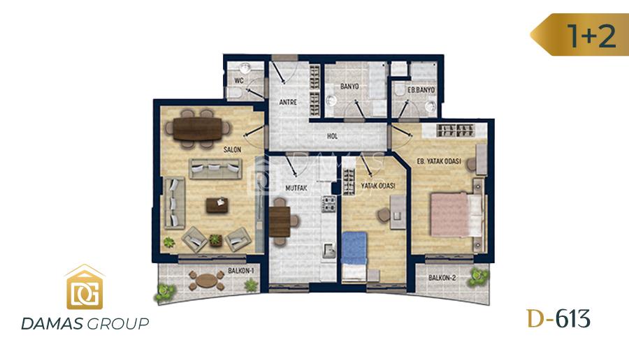 Damas Project D-613 in Antalya - Floor Plan 02