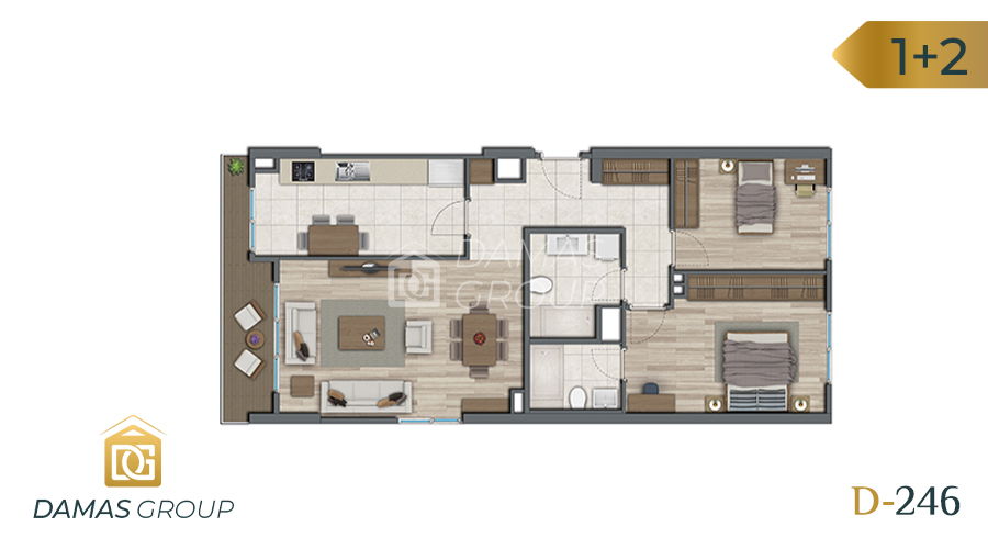 Damas Project D-246 in Istanbul - Floor Plan 01