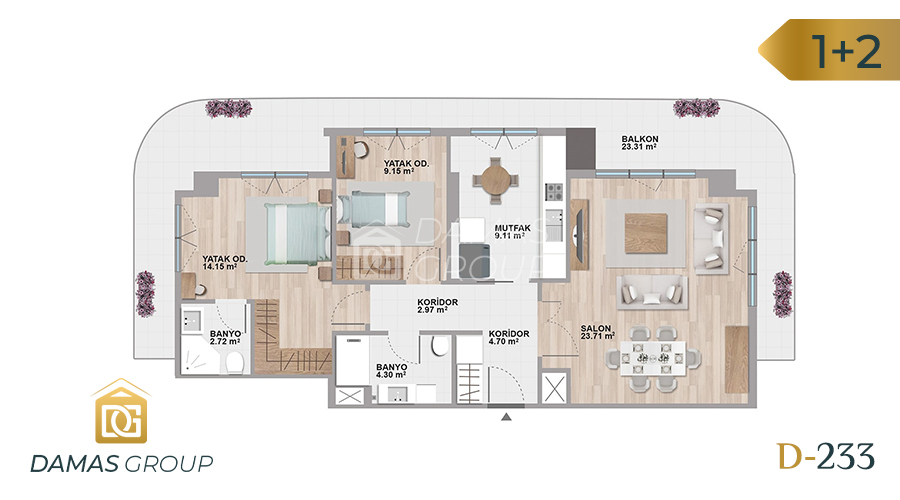 Damas Project D-233 in Istanbul - Floor Plan 02