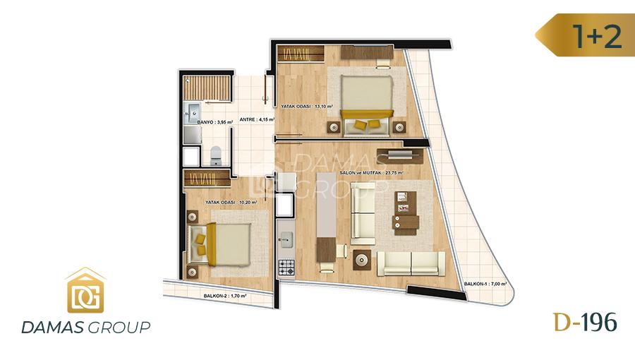 Damas Project D-196 in Istanbul - Floor Plan 04