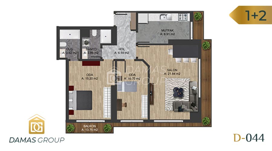 Damas Project D-0445 in Istanbul - Floor Plan 03