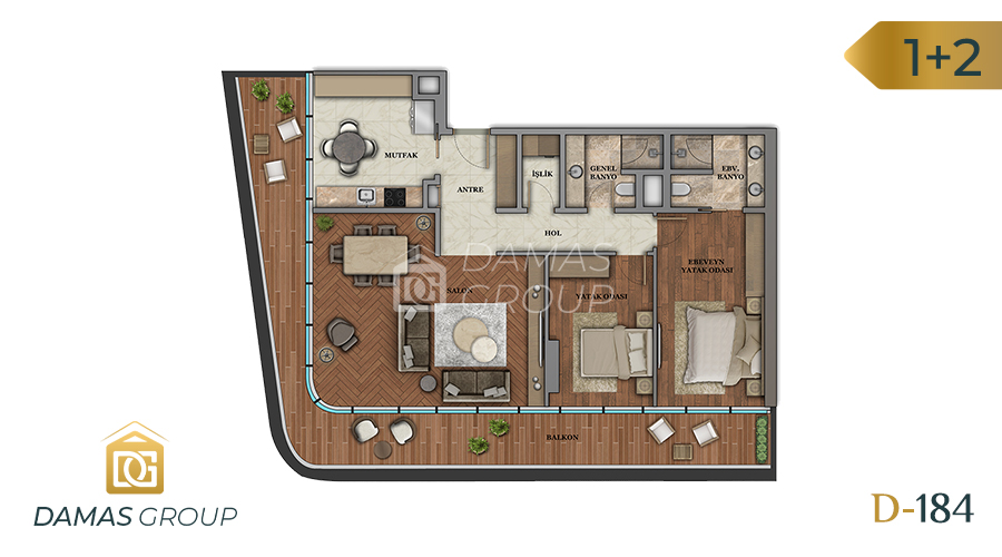 Damas Project D-184 in Istanbul - Floor Plan 02