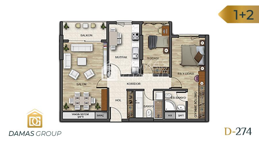 Damas Project D-274 in Istanbul - Floor Plan 03