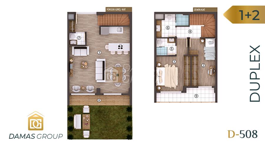 Damas Project D-508 in kocali - Floor Plan 02