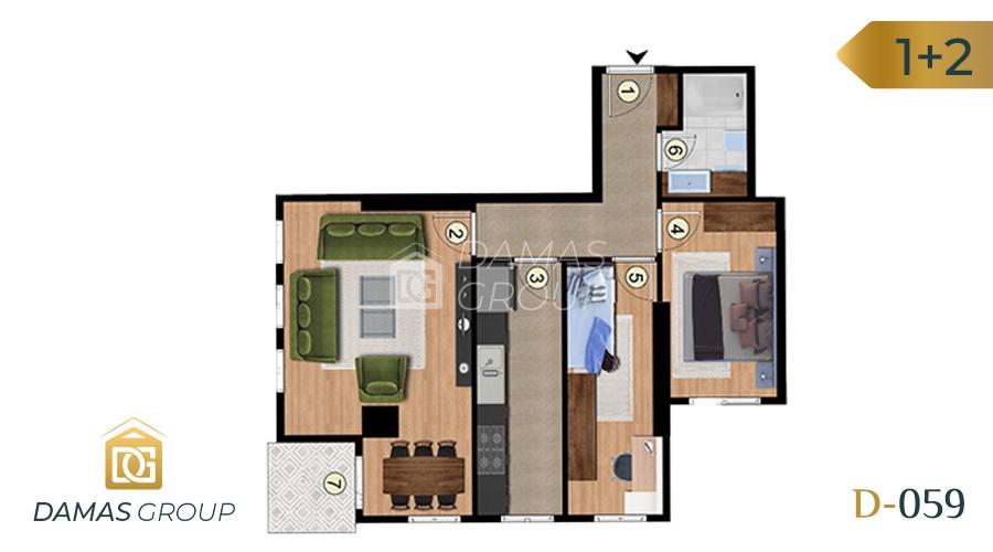Damas Project D-059 in Istanbul - Floor Plan 03