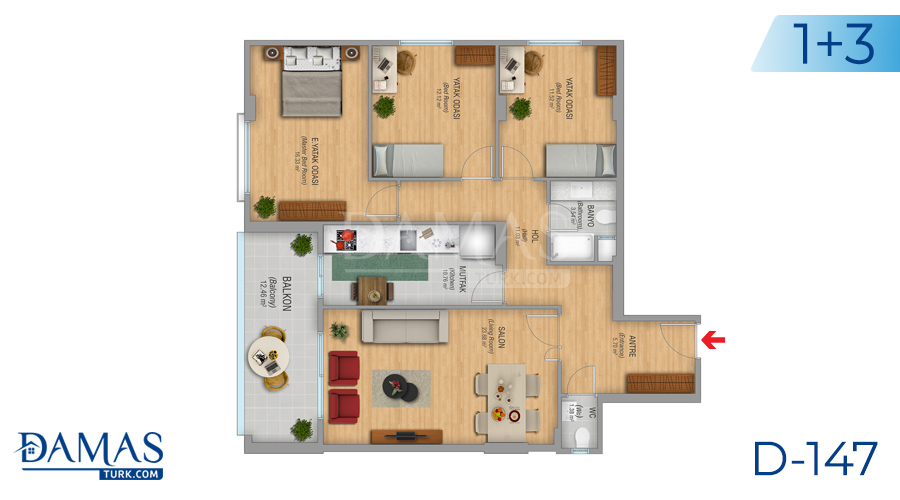 Damas Project D-147 in Istanbul - Floor plan picture 02