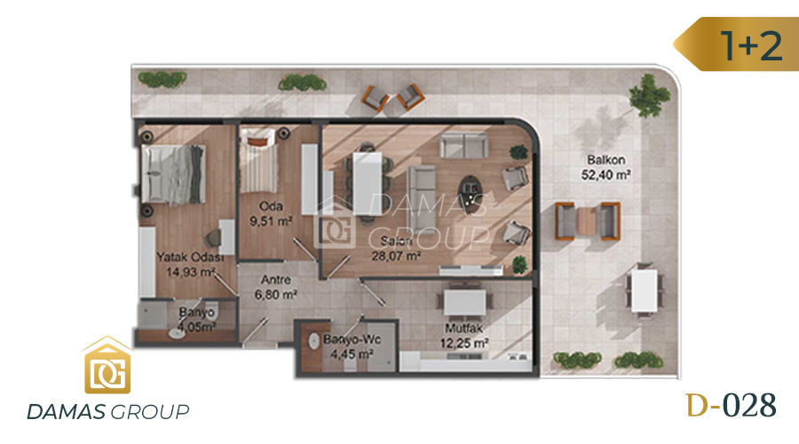Damas Project D-028 in Istanbul - Floor Plan 02