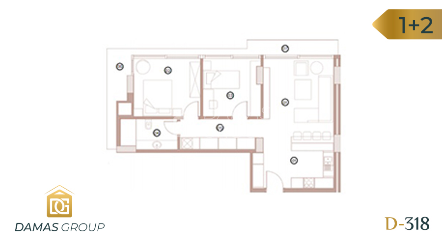 Damas Project D-318 in Bursa - Floor Plan 02