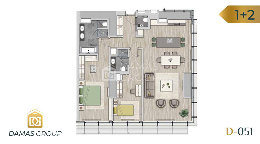 Damas Project D-051 in Istanbul - Floor Plan 02