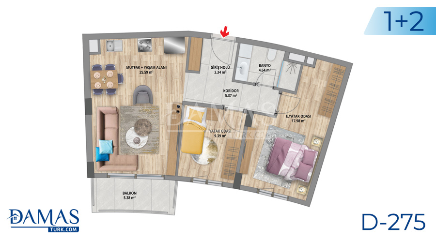 Damas Project D-275 in Istanbul - Floor plan picture 02