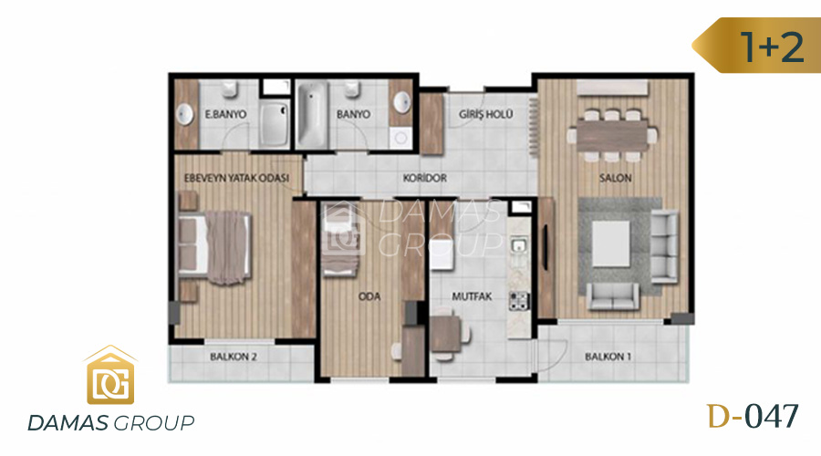 Damas Project D-046 in Istanbul - Floor Plan 01