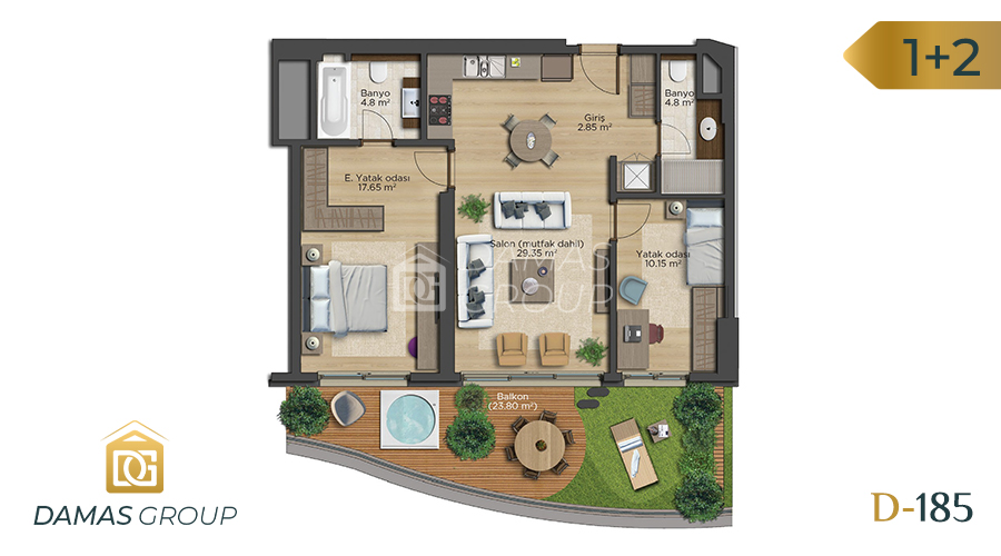 Damas Project D-185 in Istanbul - Floor Plan 02