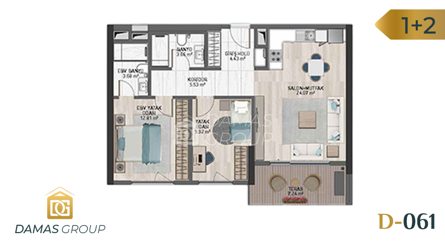 Damas Project D-061 in Istanbul - Floor Plan 02