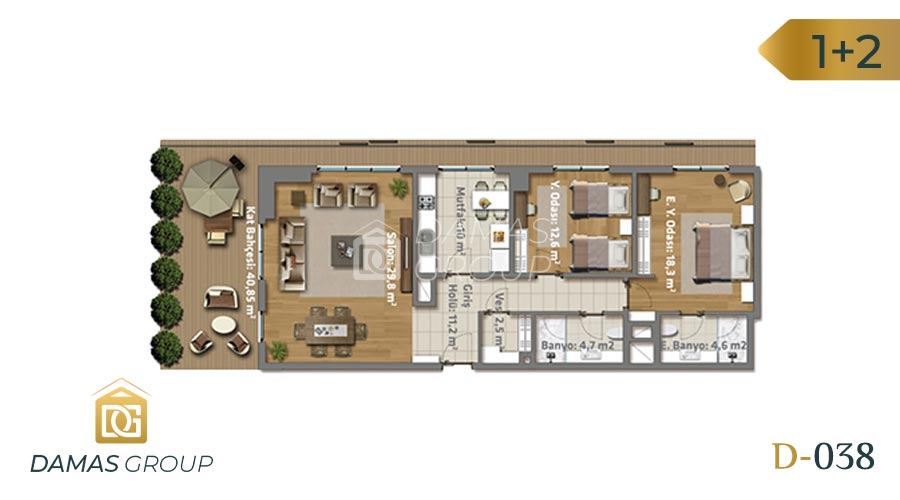 Damas Project D-038 in Istanbul - Floor Plan 02