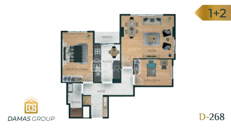 Damas Project D-268 in Istanbul - Floor Plan 02