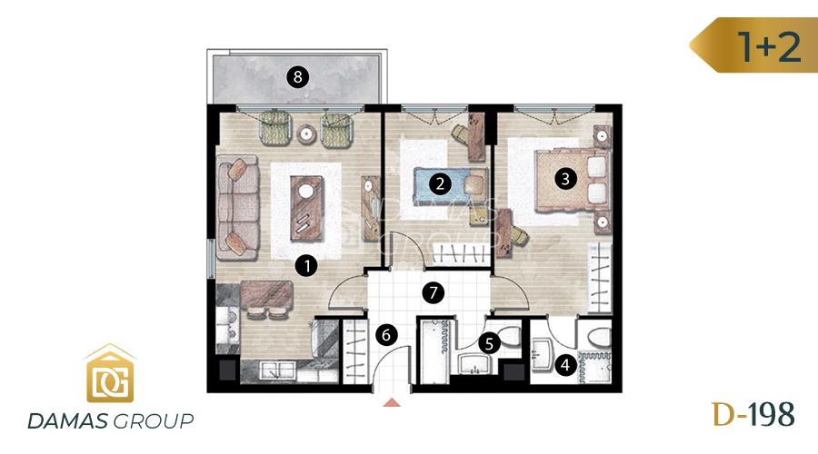 Damas Project D-198 in Istanbul - Floor Plan 03