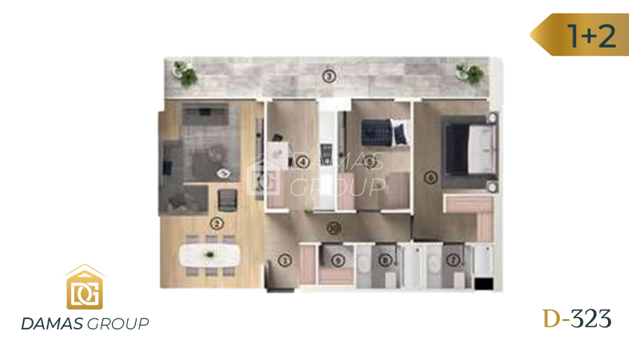 Damas Project D-323 in Bursa - Floor Plan 02