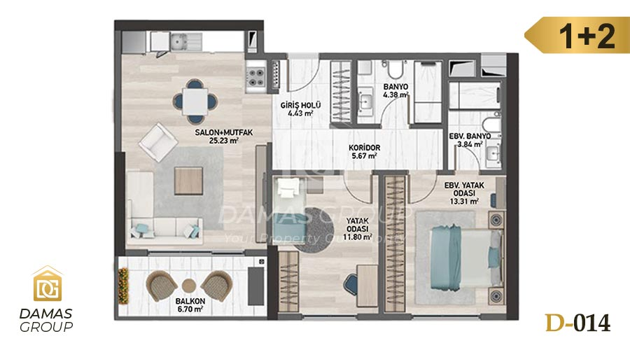 Damas Project D-014 in Istanbul - Floor Plan 02