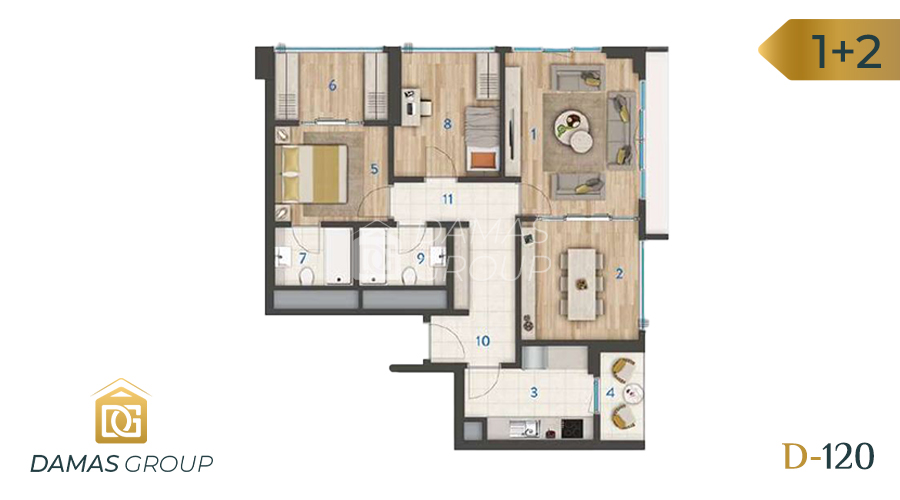 Damas Project D-120 in Istanbul - Floor Plan 02