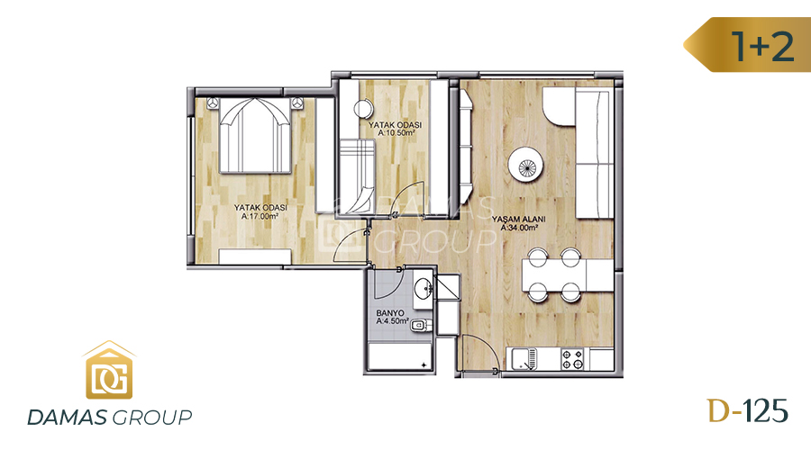 Damas Project D-125 in Istanbul - Floor Plan 02