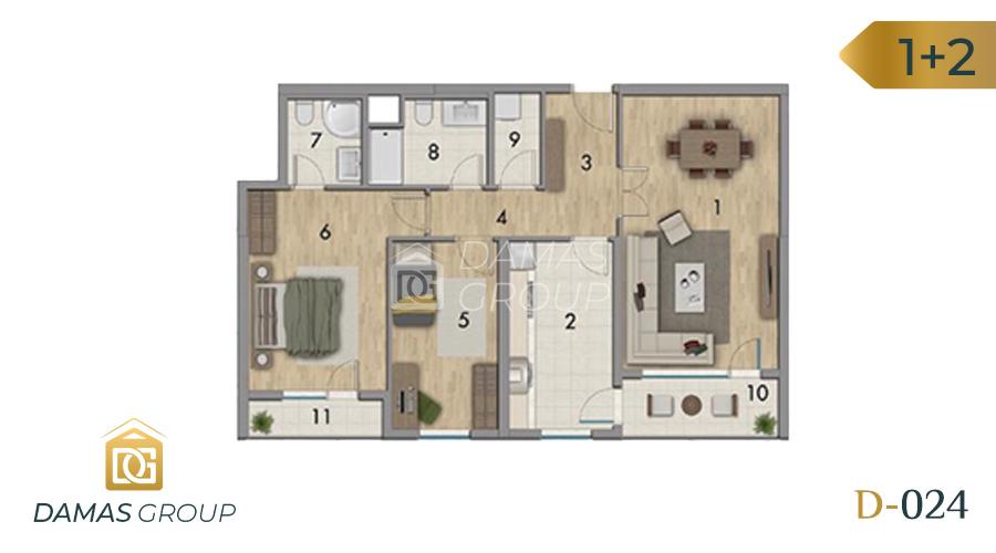 Damas Project D-024 in Istanbul - Floor Plan 01