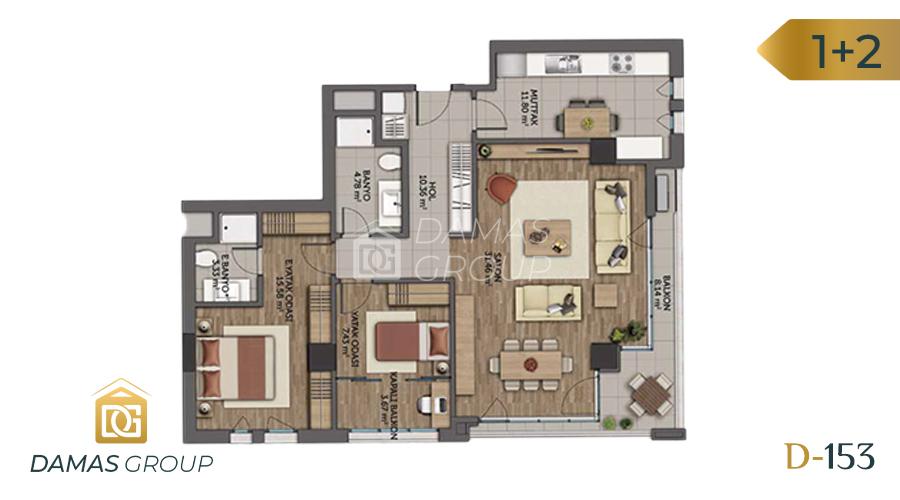 مجمع داماس153  في اسطنبول  - صورة مخطط 03
