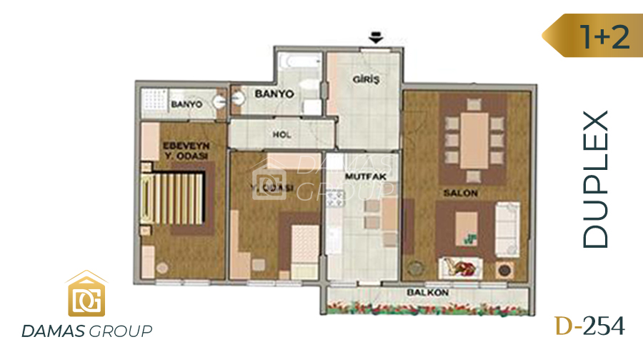 Damas Project D-254 in Istanbul - Floor Plan 01