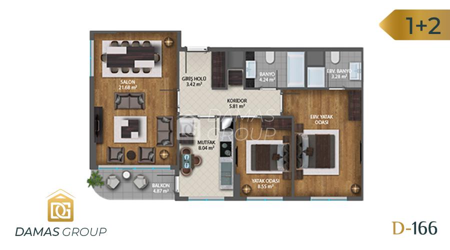 Damas Project D-1661 in Istanbul - Floor Plan 02