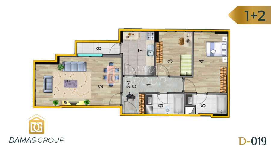 Damas Project D-019 in Istanbul - Floor Plan 01