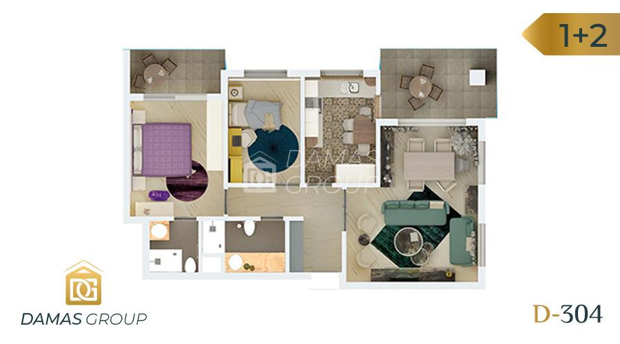 Damas Project D-304 in Bursa - Floor Plan 01