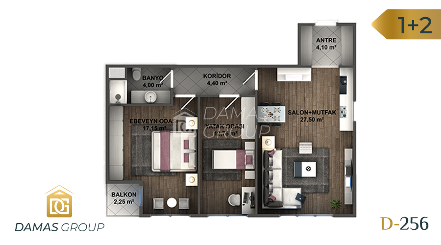 Damas Project D-256 in Istanbul - Floor Plan 02