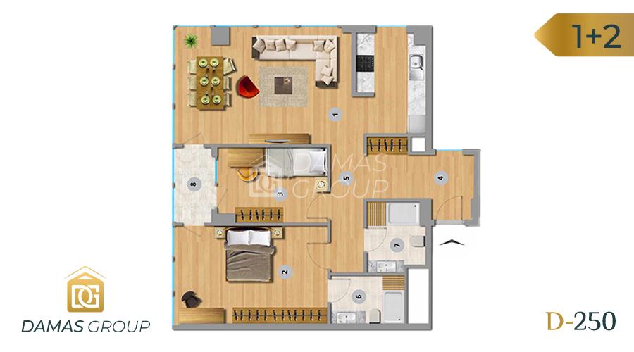 Damas Project D-250 in Istanbul - Floor Plan 03