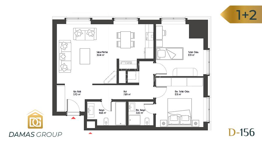 Damas Project D-156 in Istanbul - Floor Plan 03