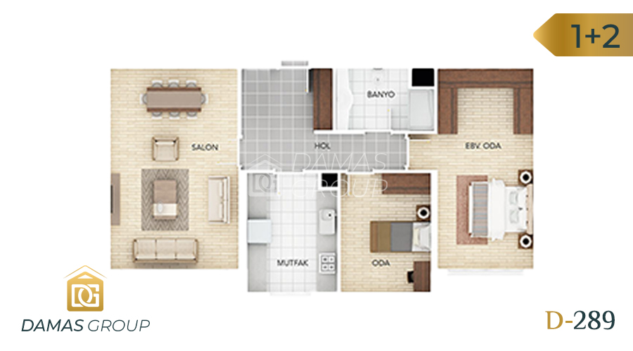 Damas Project D-289 in Istanbul - Floor Plan 01