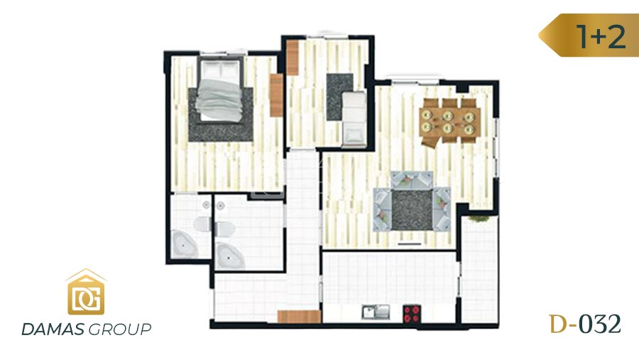 Damas Project D-032 in Istanbul - Floor Plan 01