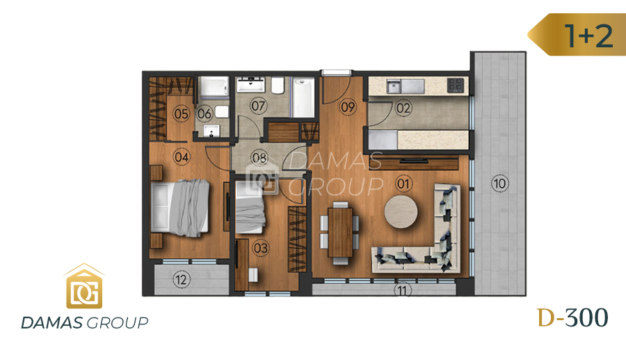 Damas Project D-300 in Istanbul - Floor Plan 01