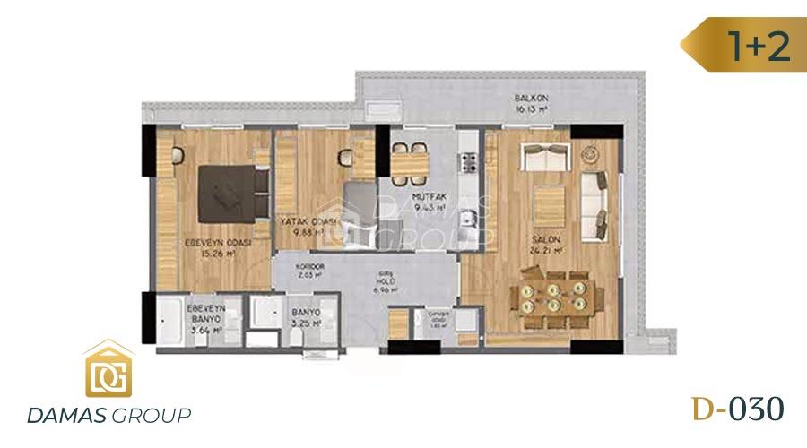 Damas Project D-030 in Istanbul - Floor Plan 03
