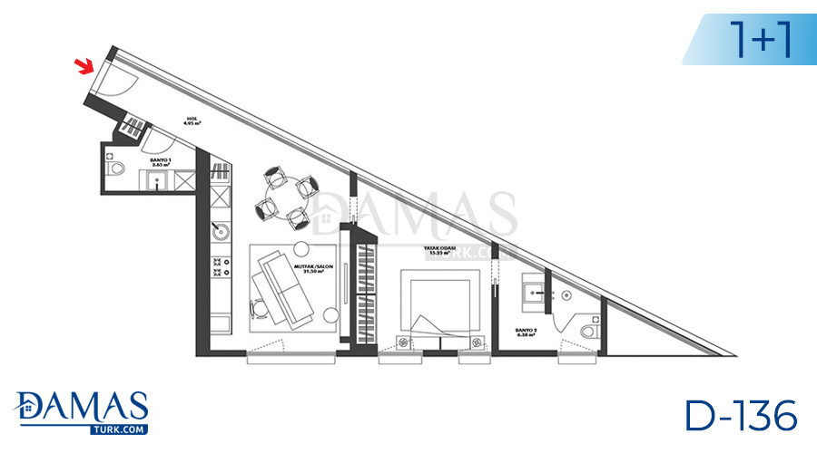Damas Project D-136 in Istanbul - Floor plan picture 02
