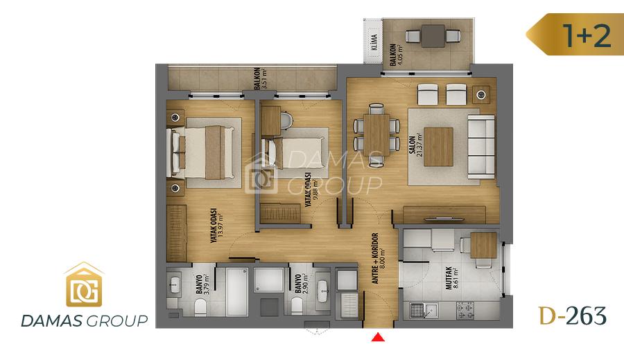 Damas Project D-263 in Istanbul - Floor Plan 02