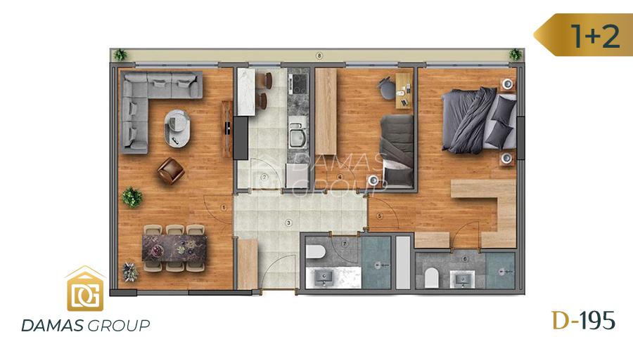 Damas Project D-195 in Istanbul - Floor Plan 02