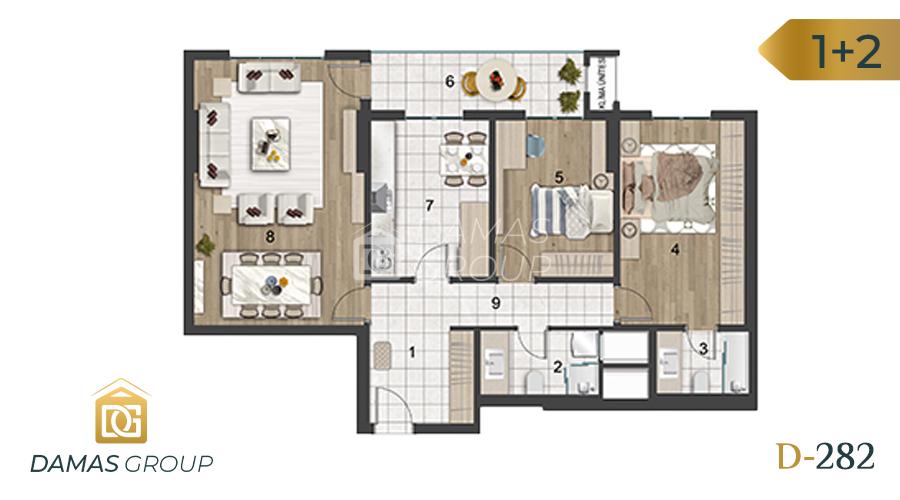 Damas Project D-282 in Istanbul - Floor Plan 01
