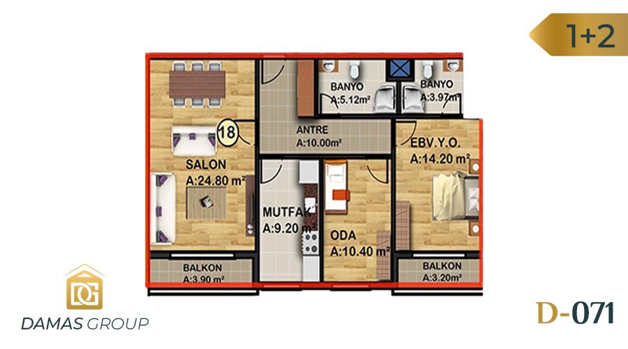 Damas Project D-071 in Istanbul - Floor Plan 01