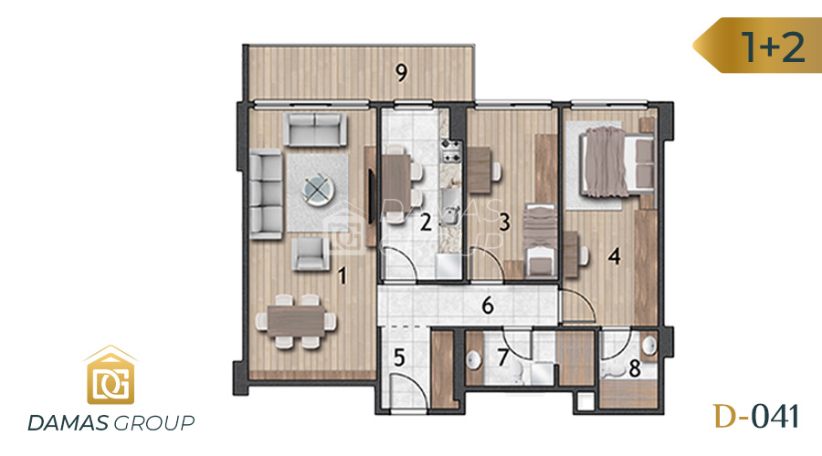 Damas Project D-041 in Istanbul - Floor Plan 03