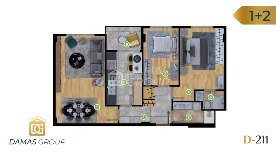 Damas Project D-211 in Istanbul - Floor Plan 01