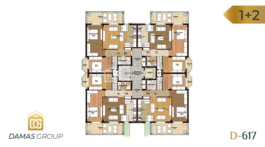 مجمع داماس 617 في انطاليا  - صورة  مخطط 01