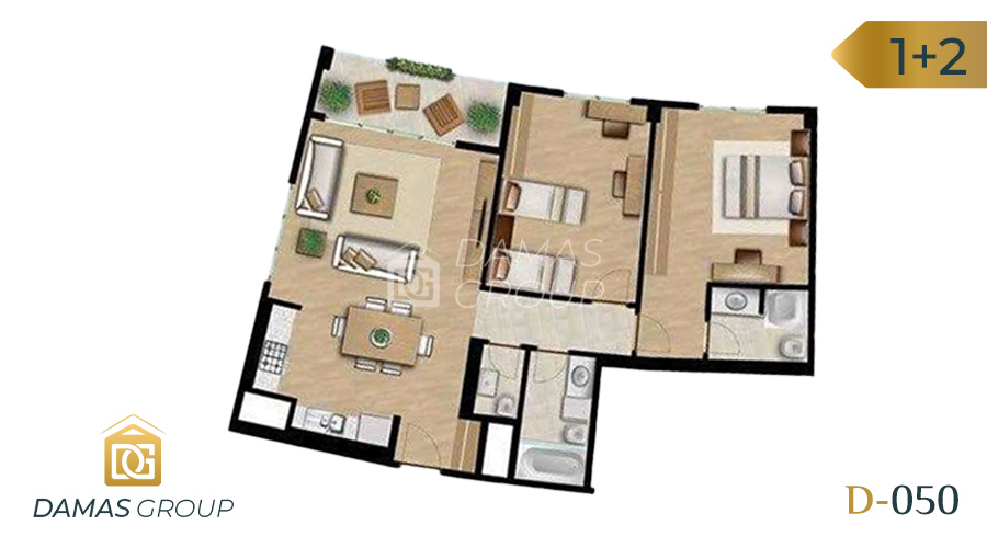 Damas Project D-050 in Istanbul - Floor Plan  01